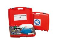 RESUSCITATION KIT WITHOUT SUCTION SYSTEM AND WITH EMPTY OXYGEN CYLINDER