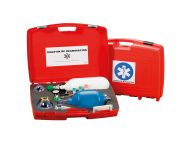 RESUSCITATION KIT WITH VENTURI SUCTION SYSTEM AND EMPTY OXYGEN CYLINDER