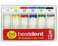 PAPER POINTS SIZES 15-80 BESTDENT