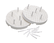 PROCLINIC REFRACTORY TRAY, 2 UNITS W/20 PINS